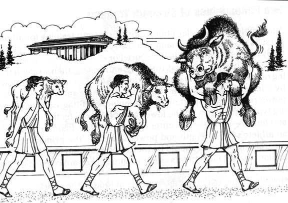 milon atleta griego del siglo VI a.c.